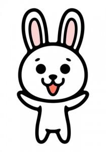自己紹介ウサギ